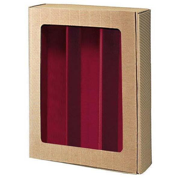 geschenkbox-praesentkarton-offenewelle-natur-innenbordeaux-sichtfenster-3flaschen