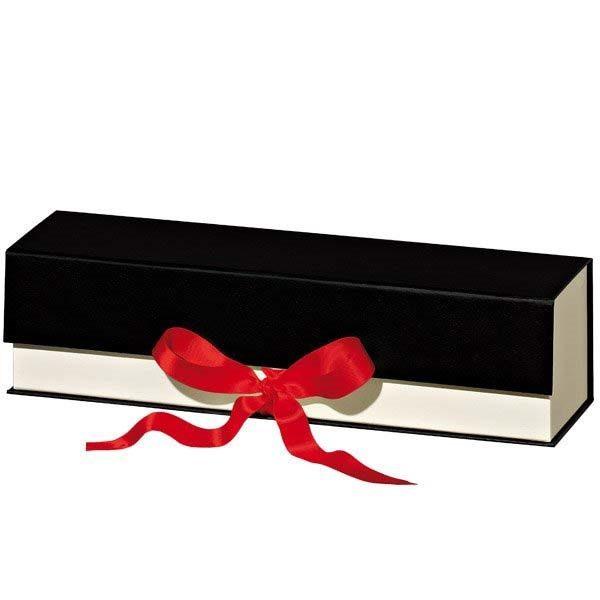 geschenkbox-schatulle-roteschleife-creme-schwarz-1flasche
