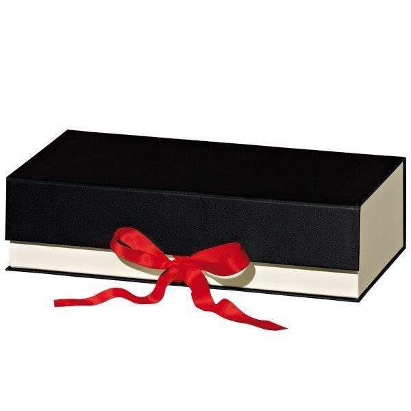 geschenkbox-schatulle-roteschleife-creme-schwarz-2flaschen