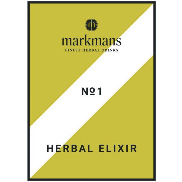 Herbal Elixir No1 markmans - Etikett