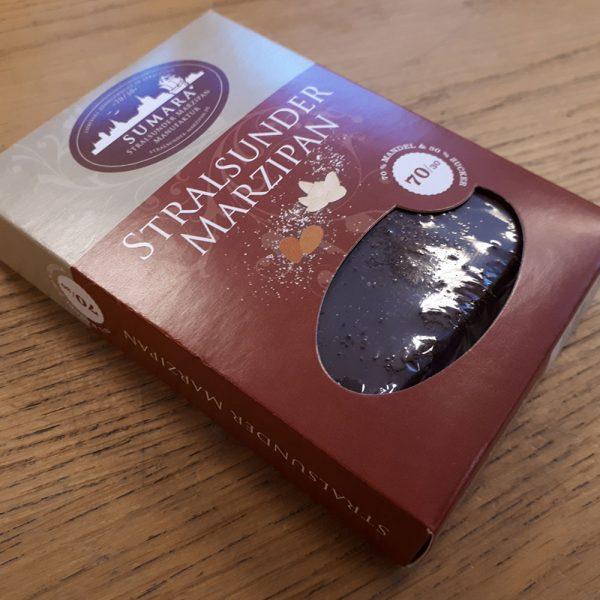 Espressomarzipan-Tafel mit Zartbitterschokolade