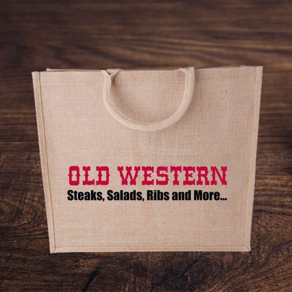 Jute Tasche mit Old Western Logo