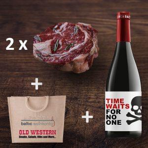 Weinpaket Rinderfilets+Wein+Jute